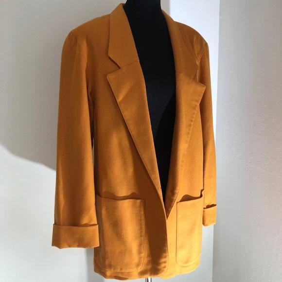 ff987fe09 Vintage Mustard Colored Wool Coat